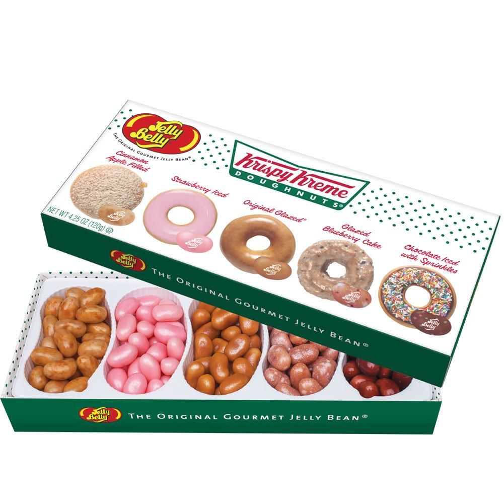 Jelly Belly Candy 64787 Gift Box 4.25oz 5 Flavors KK 4.25 Oz 5 Krispy Kreme, None