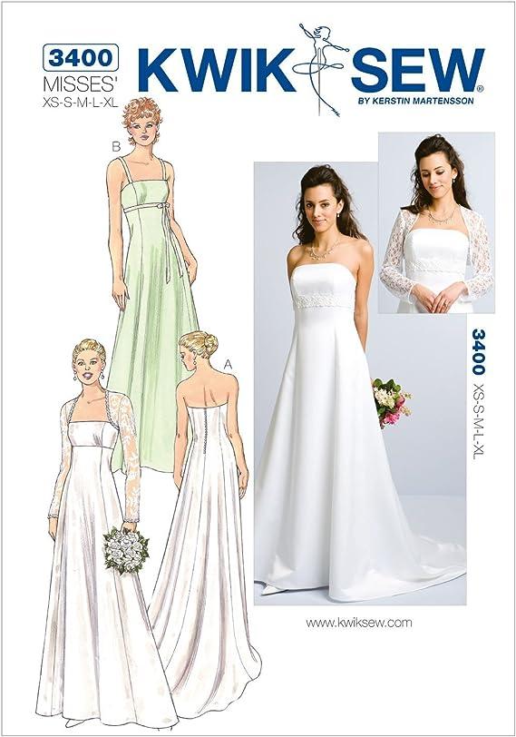 Amazon Com Kwik Sew K3400 Gowns And Bolero Sewing Pattern Size