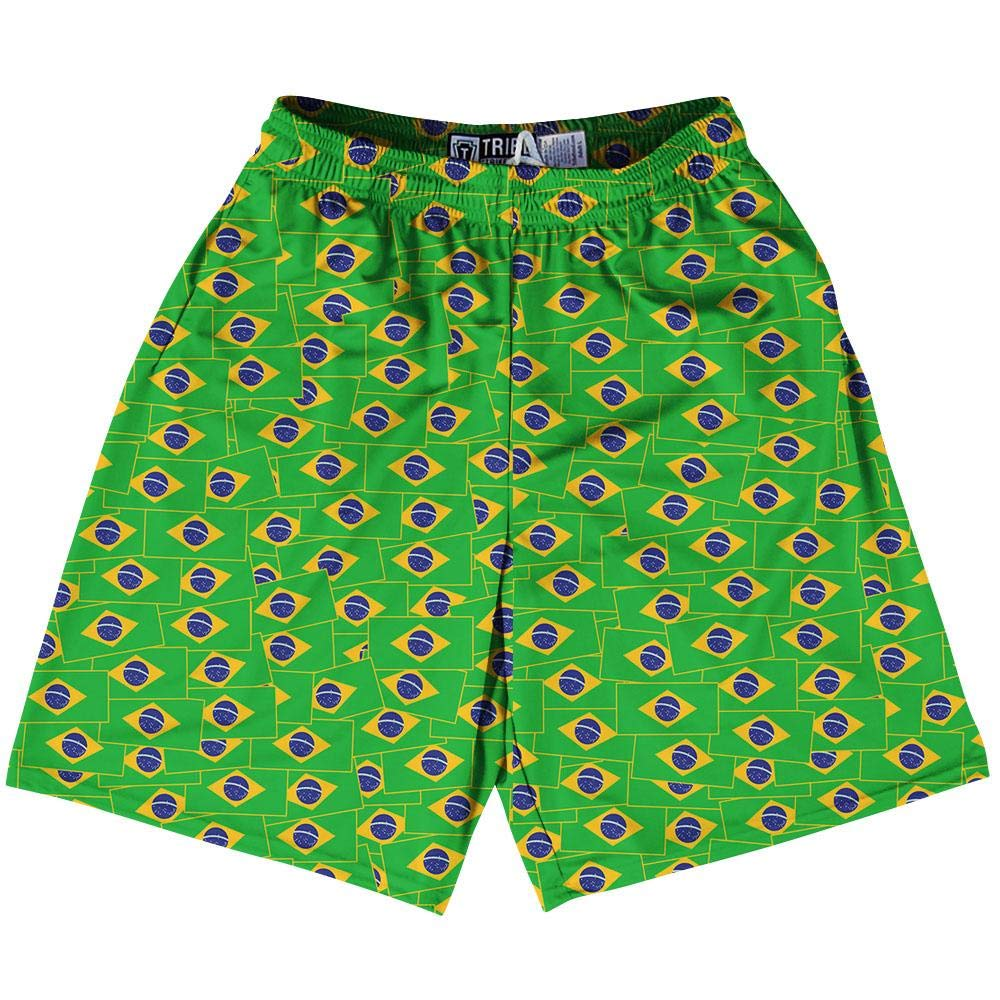 Tribe Brazil Party Flags Lacrosse Shorts