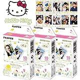 Fujifilm Instax Mini Sanrio Hello Kitty Instant 30 Film for Fuji 7s 8 25 50s 70 90 / Polaroid 300 Instant Camera/Share SP-1 Printer
