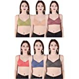 Costafrey Women's Non-Padded Bra Pack of 6 (Multi- Color)