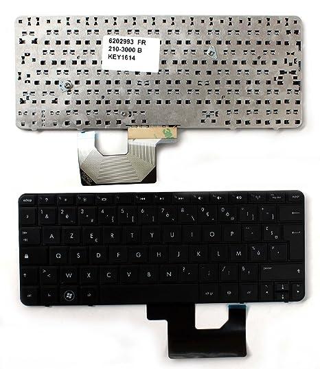 Keyboards4Laptops HP Mini 210-3025sa Negro Layout Francés Teclado de Repuesto para Ordenador portátil