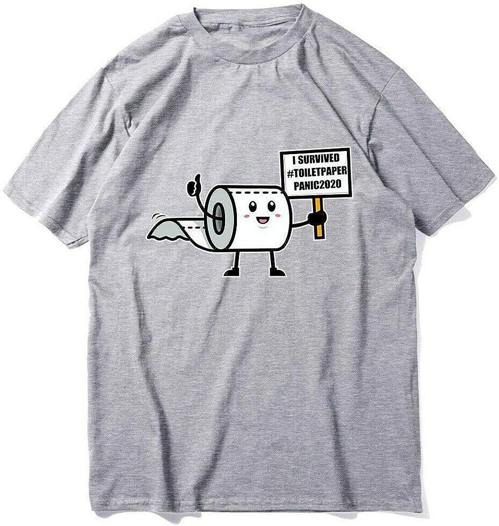 Camiseta Divertida Unisex Sobreviv/í la Camiseta del p/ánico 2020 del Papel higi/énico