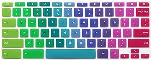 """Keyboard Skin for 14"""" HP Chromebook 14-ca 14-ak Series, HP Chromebook 14 G2 G3 G4 14-X Series & HP Chromebook x360 11.6"""", HP Chromebook 11 G2 G3 G4 11.6 inch (Not FIT HP Chromebook G5 EE) (Rainbow)"""
