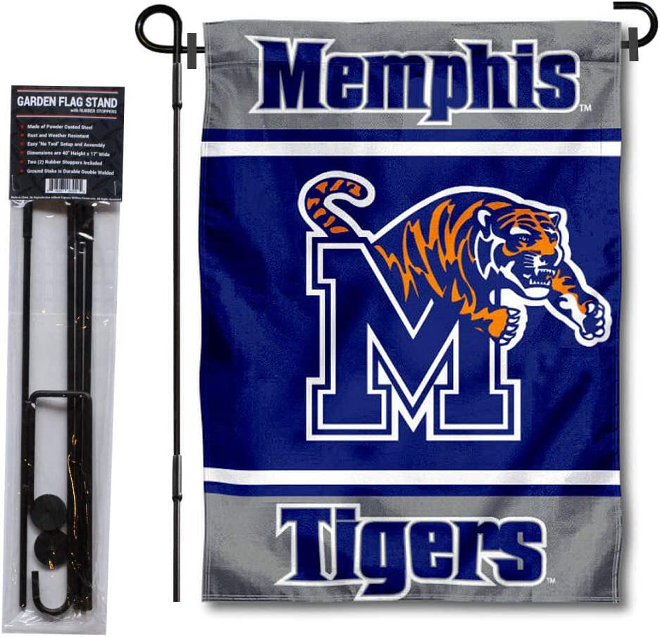 College Flags & Banners Co. Memphis Tigers Garden Flag and Flag Stand Pole Holder Set