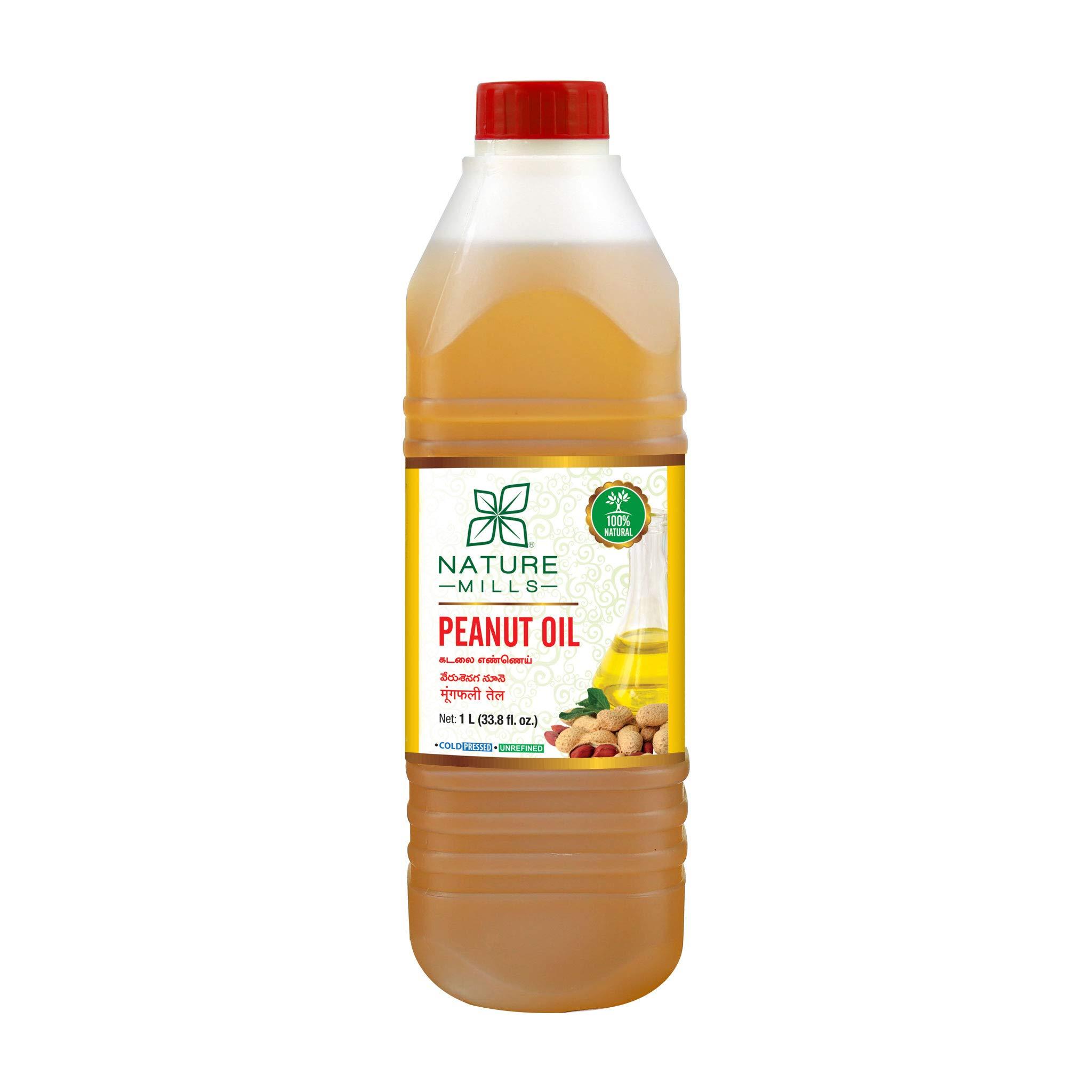 Natural Peanut Oil - 1 Liter - 33.8 Fl.Oz