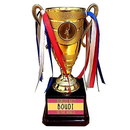 YaYa Cafe Birthday Gift For Bhabhi Bengali Worlds Best Boudi Trophy Award Sister In Law