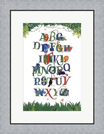 Amazon.com: Safari Alphabet by Lila Rose Kennedy Framed Art Print ...