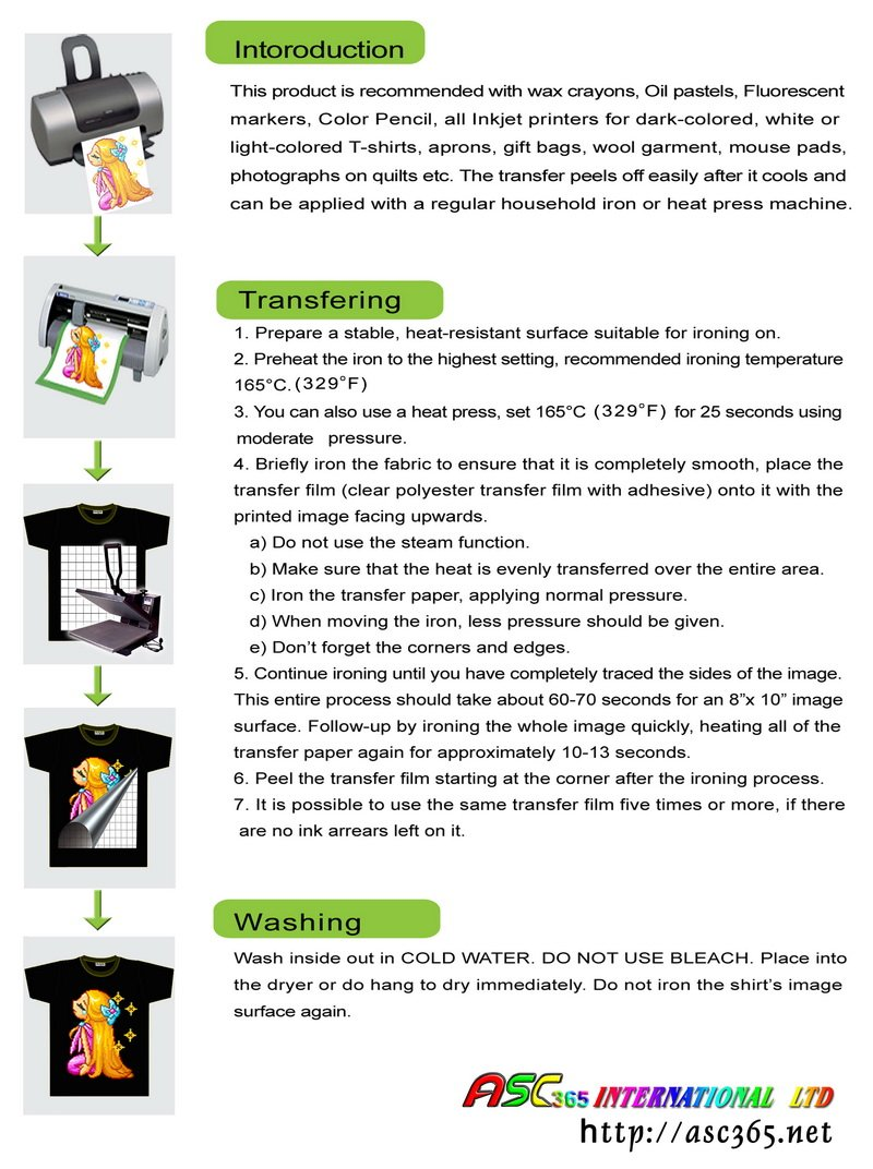 8c917af8aec79 Amazon.com   1package of 20Sheets A4 Inkjet Dark Transfer Paper Flat Heat  Press Printing T-shirts Hat Cap   Office Products
