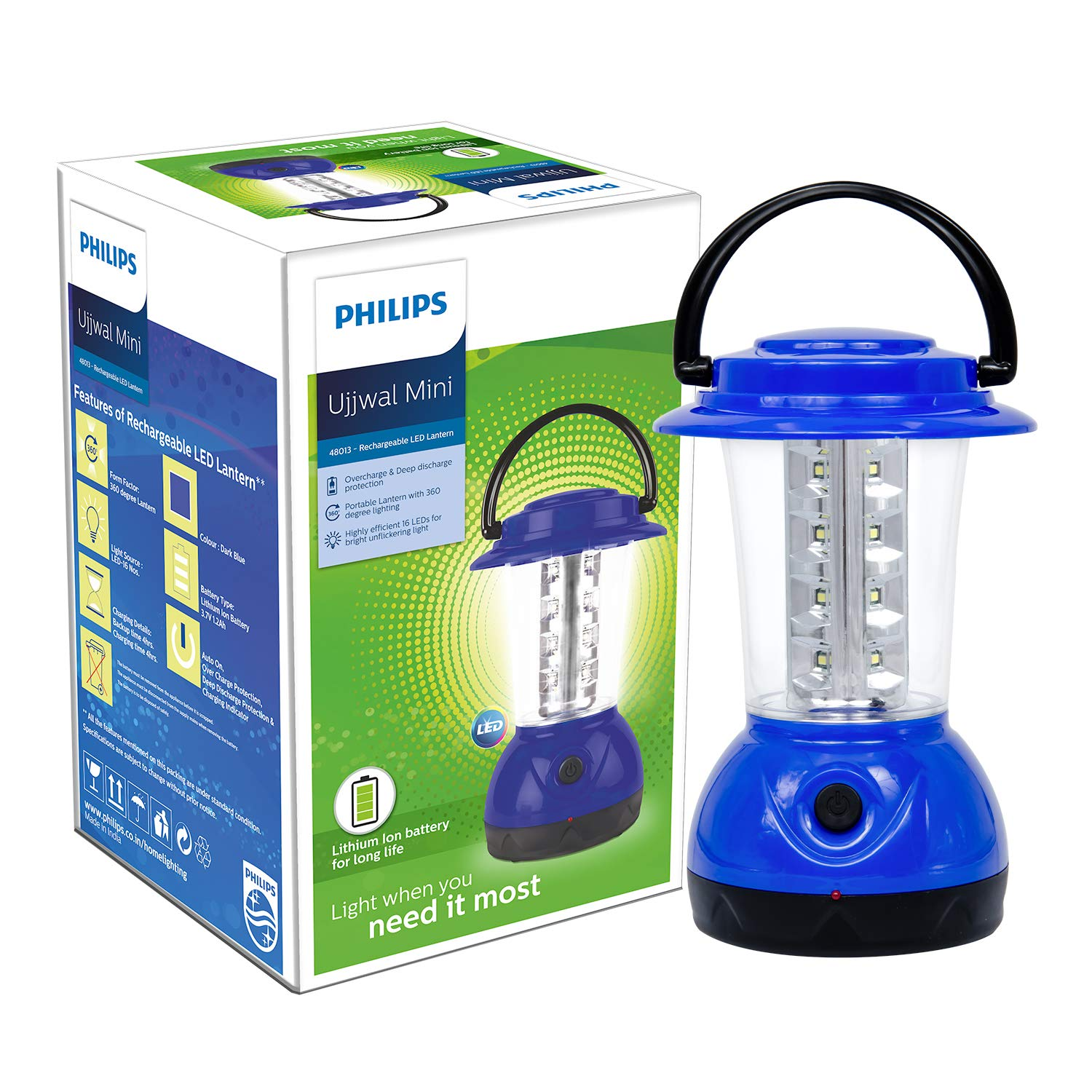 Philips Ujjwal Mini 16-LED Lantern