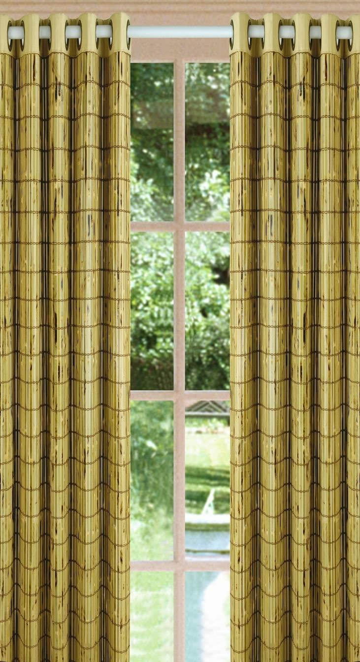 Versailles Home Fashions, Ivory Green,63-Inch Bamboo Grommet Panel