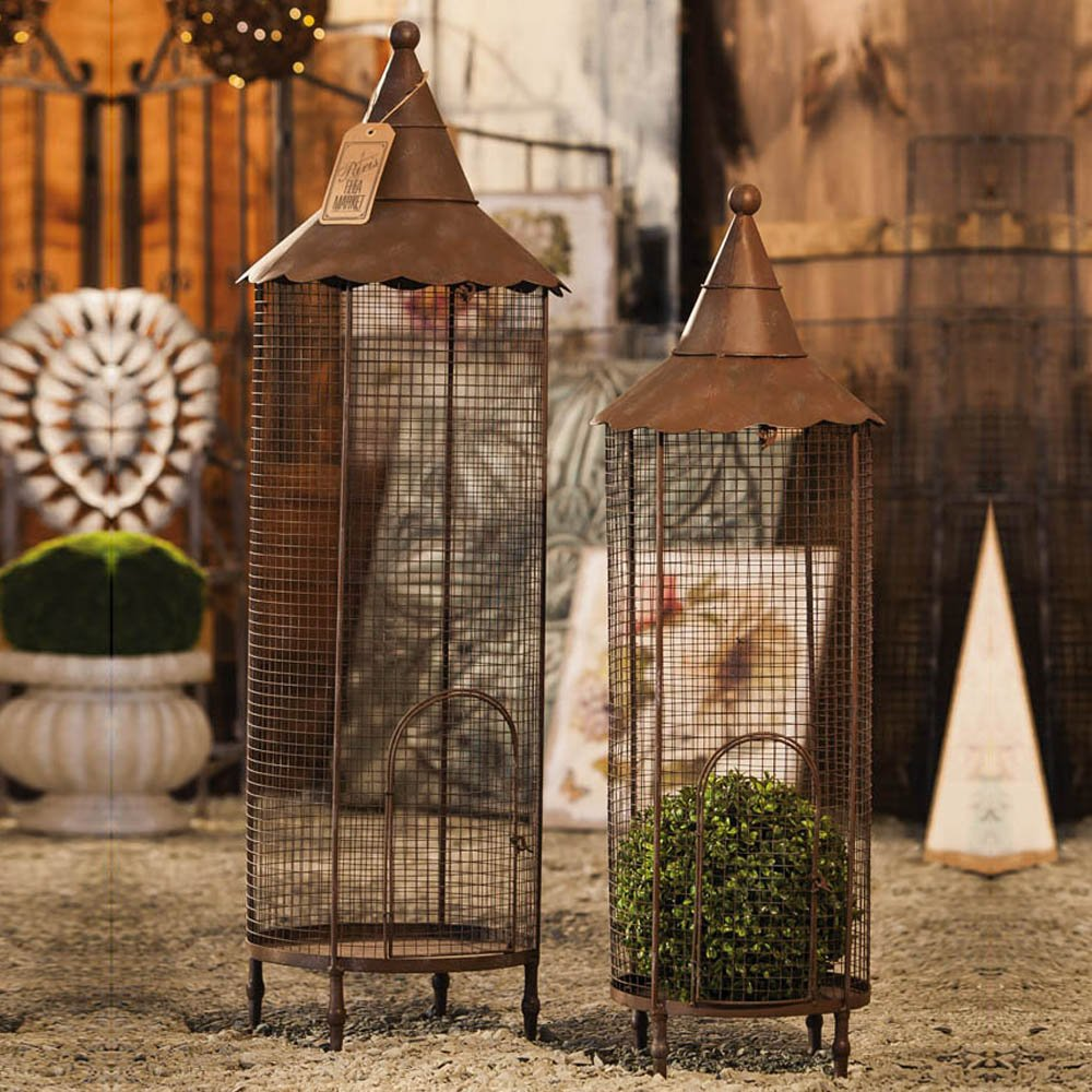 Gifted Living Nested Iron Bird Cage Lantern, Set of 2 by Gifted Living