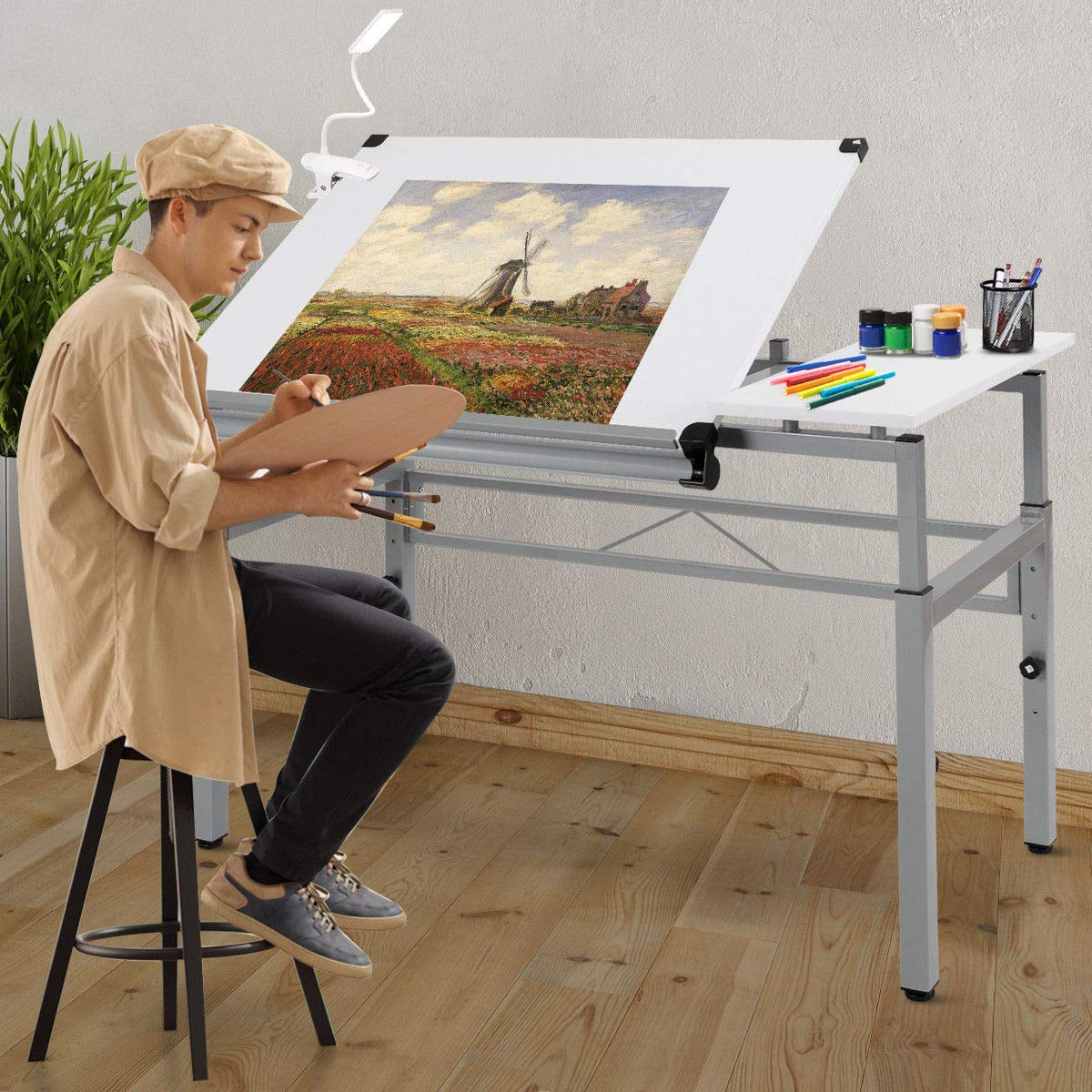 Seleq Adjustable Steel Frame Drawing Desk Drafting Table by Seleq (Image #9)
