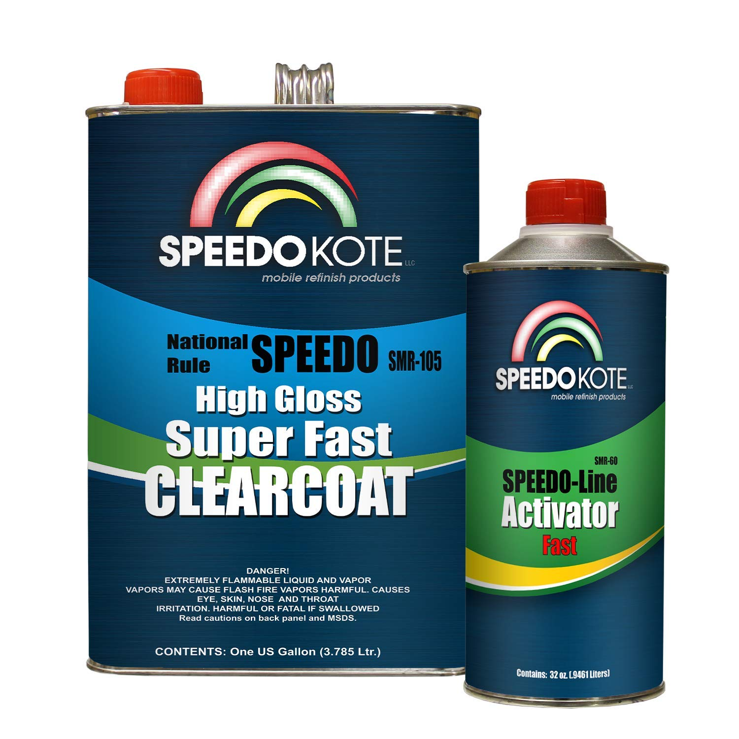 Speedokote Mobile Refinish Clear Coat High Gloss Super Fast Clearcoat Gallon Kit SMR-105/60