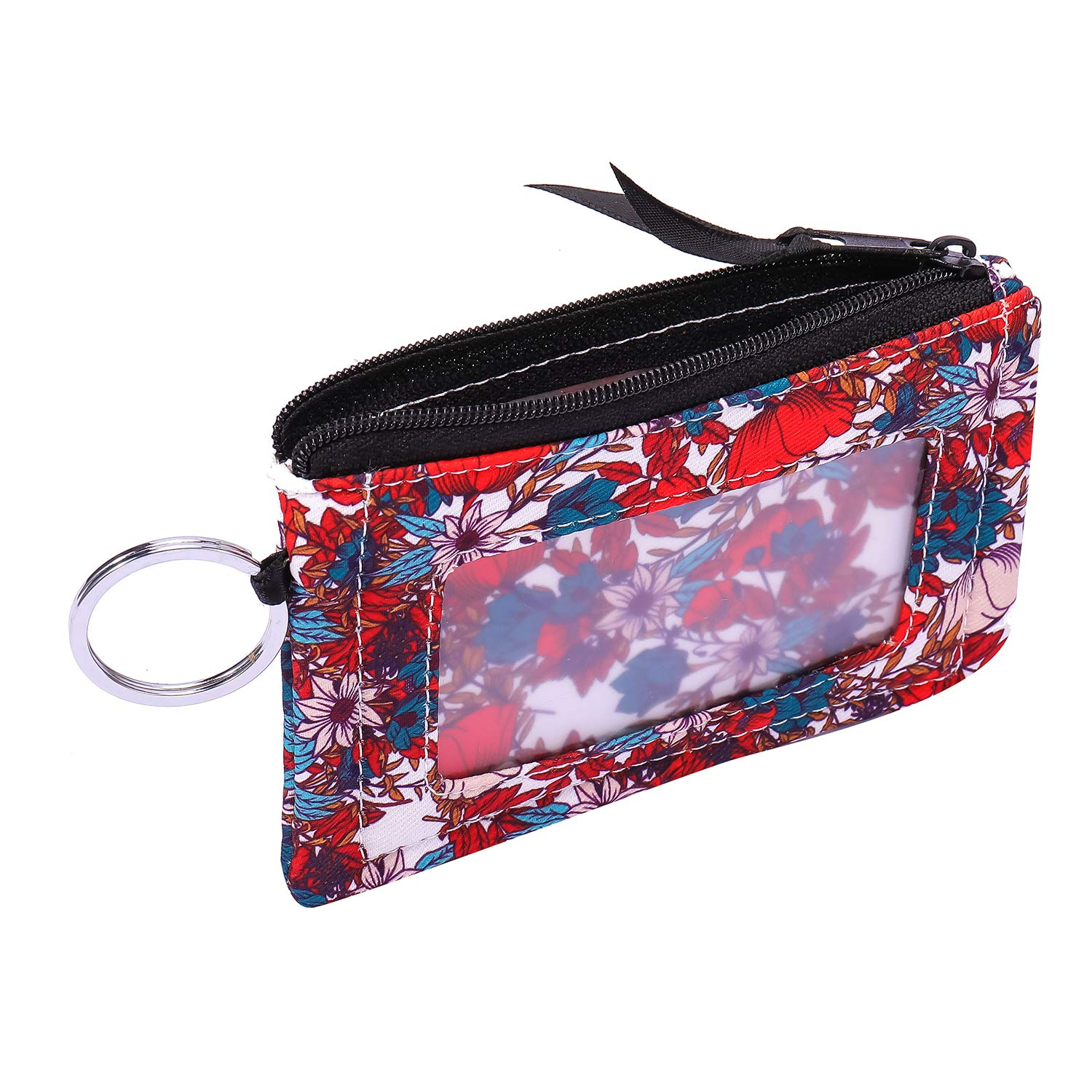 Signature Cotton Black Iconic Zip ID Case Wallet//Coin Purse with Id Window