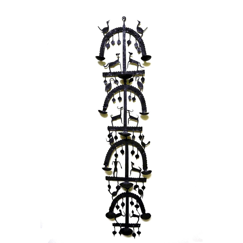 chinhhari Arts Wrought Iron Hanging壁マウント装飾キャンドルホルダー   B07DLWHHKV