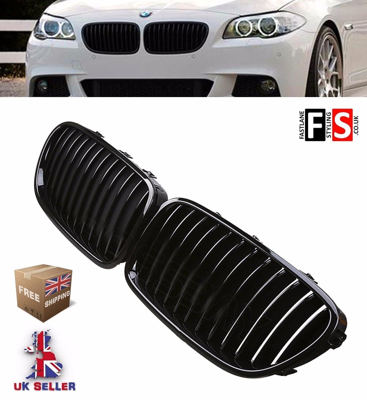 5 Series F10 F11 F18 Kidney Grille Gloss Black 2010+ FLS