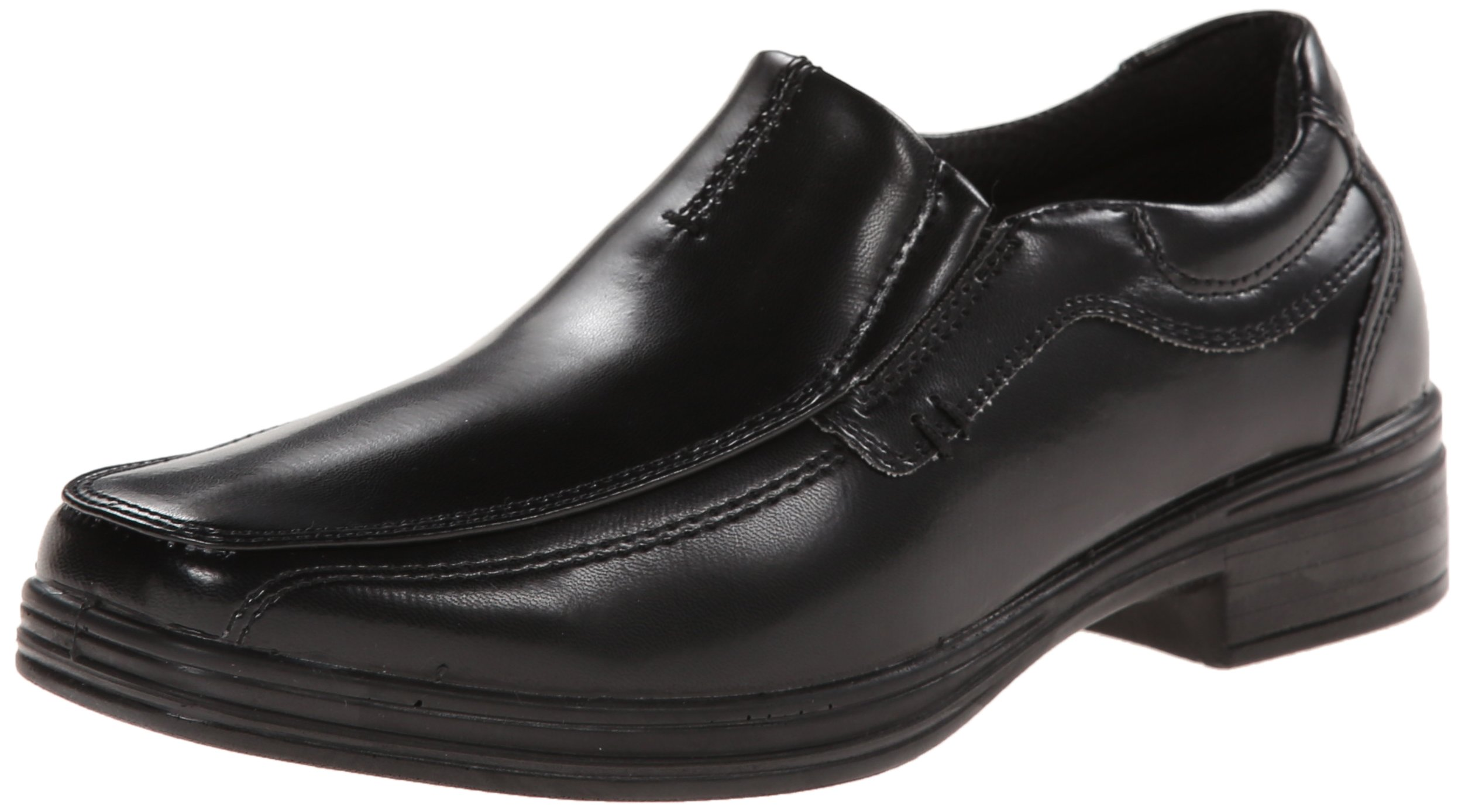 Deer Stags Wise Boys Twin Gore Slip-On (Little Kid/Big Kid), Black, 6 M US Big Kid