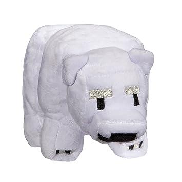 Minecraft 7183 bebé oso polar de peluche, 7 pulgadas
