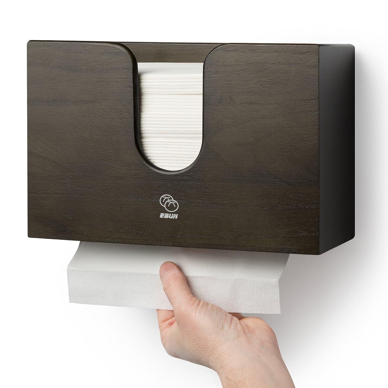 Dispensador de toalla de papel para cocina & baño - Soporte de pared/encimera Multifold papel toalla, C-fold, ZFOLD, Tri Fold toalla de mano soporte ...