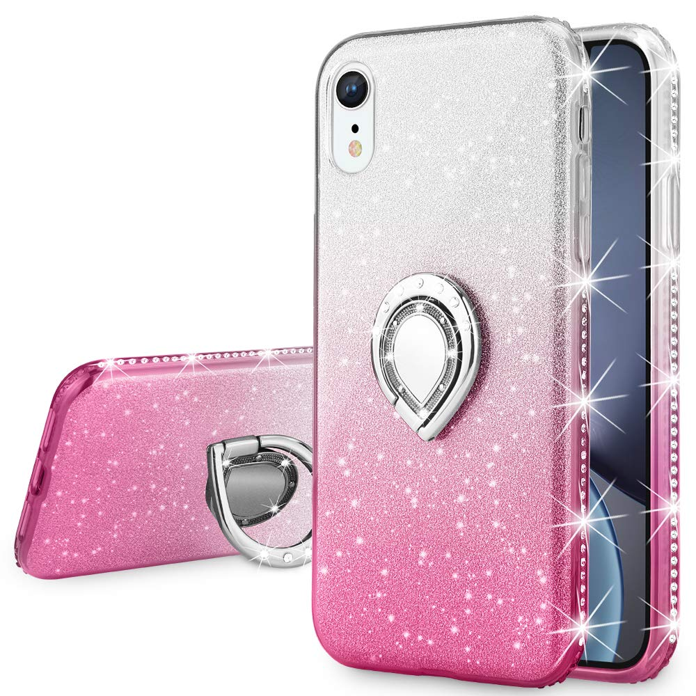 Funda para Iphone Xr Glitter con pie VEGO (7N1KRDHP)