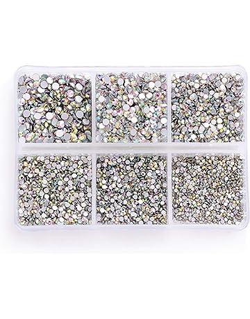 a0c71dfbea70 Zealer 1800pcs Crystals AB Nail Art Rhinestones Round Beads Top Grade  Flatback Glass Charms Gems Stones