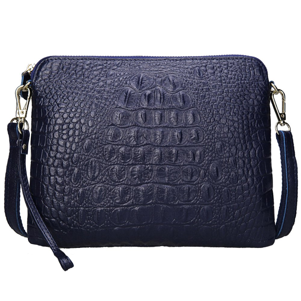 most fashionable autumn shoes coupon code SEALINF Women's Leather Handbag Cowhide Shoulder Bag Alligator Clutch  Crossbody
