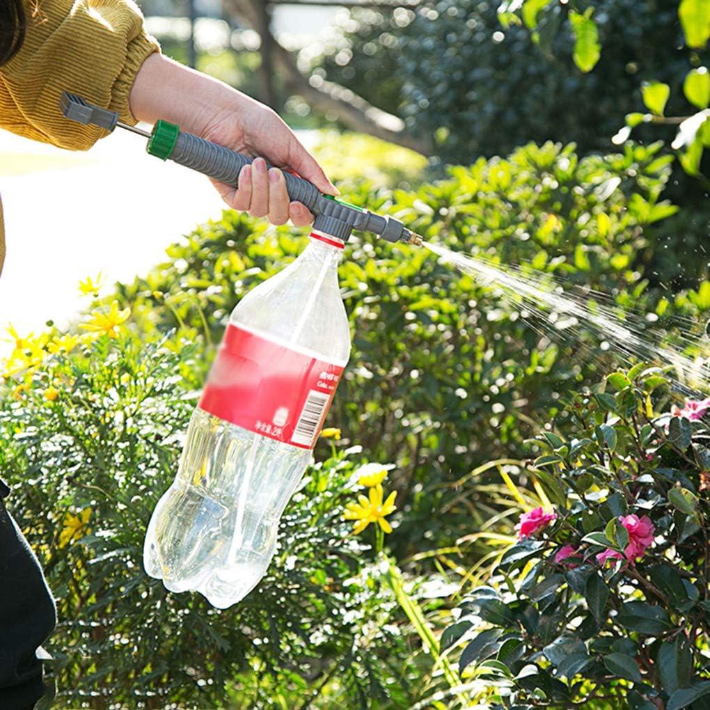 rongweiwang De Alta presi/ón Bomba de Aire Manual del rociador de la Botella Ajustable Bebida Spray de riego Botella Boquilla de pulverizaci/ón Herramienta de riego para Jardines Boquilla del Cabezal