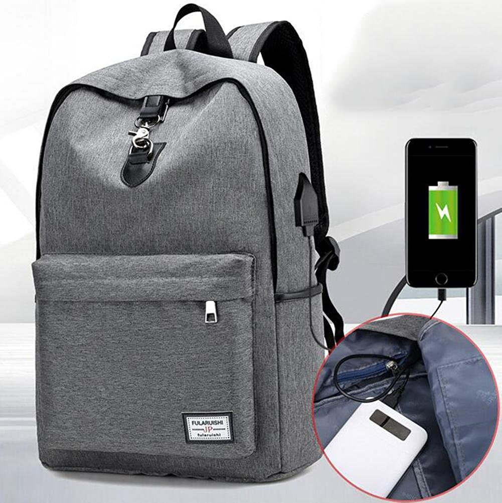ZGSP Computer backpack USB intelligent Rechargeable backpack men and women Student Waterproof Anti-theft nylon Business backpack Can put 14.6 inches computer