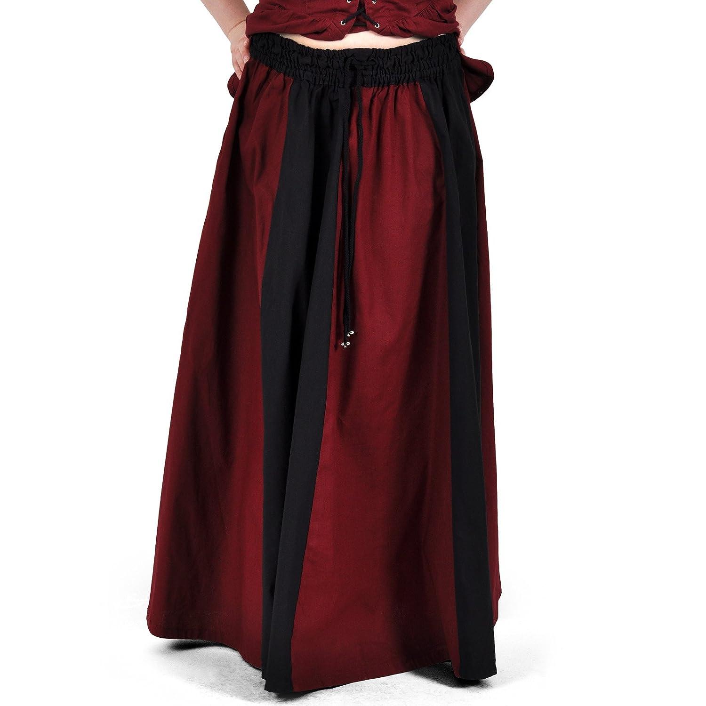 Ropa medieval - Falda medieval larga Estrella - negra y roja ...