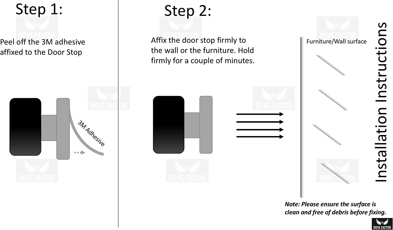 protegge mobili e pareti dallo sbattere delle porte si monta senza luso di viti per tutte le porte Adesivo fermaporta in acciaio inox con superficie paraurti che attutisce i suoni 2/pezzi