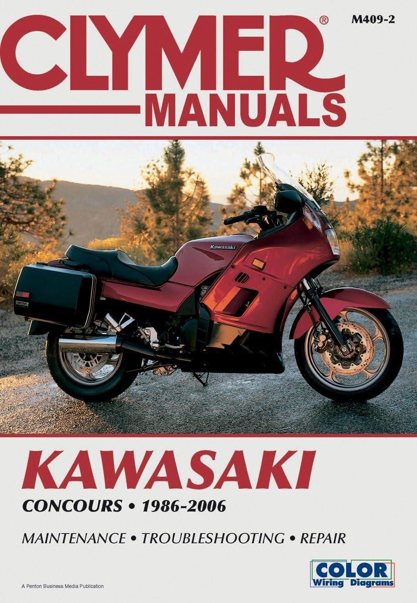 Amazon.com: Clymer Repair Manual For Kawasaki Concours ZG 1000 A 86-06  M409-2: Automotive | Kawasaki Zg1000 Wiring Diagram |  | Amazon.com