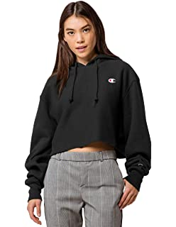 14444cd7 Champion Women's Reverse Weave Cropped Cut Off Hood at Amazon ...
