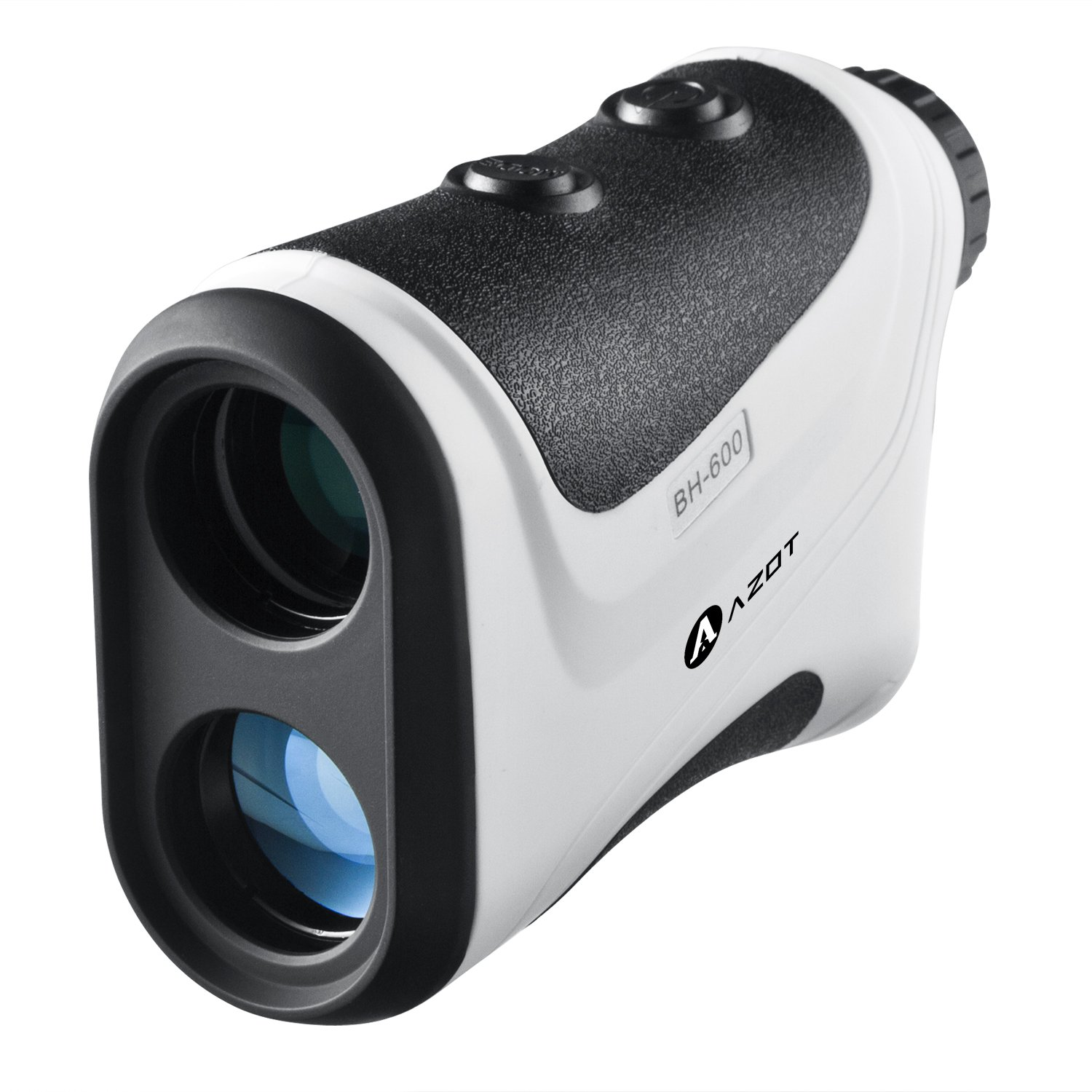 AZOT Golf Rangefinder - Golf Laser Range Finder Accurate To 1 Yard, 650 Yard Range, 6X Magnification Speed Measurement (White)