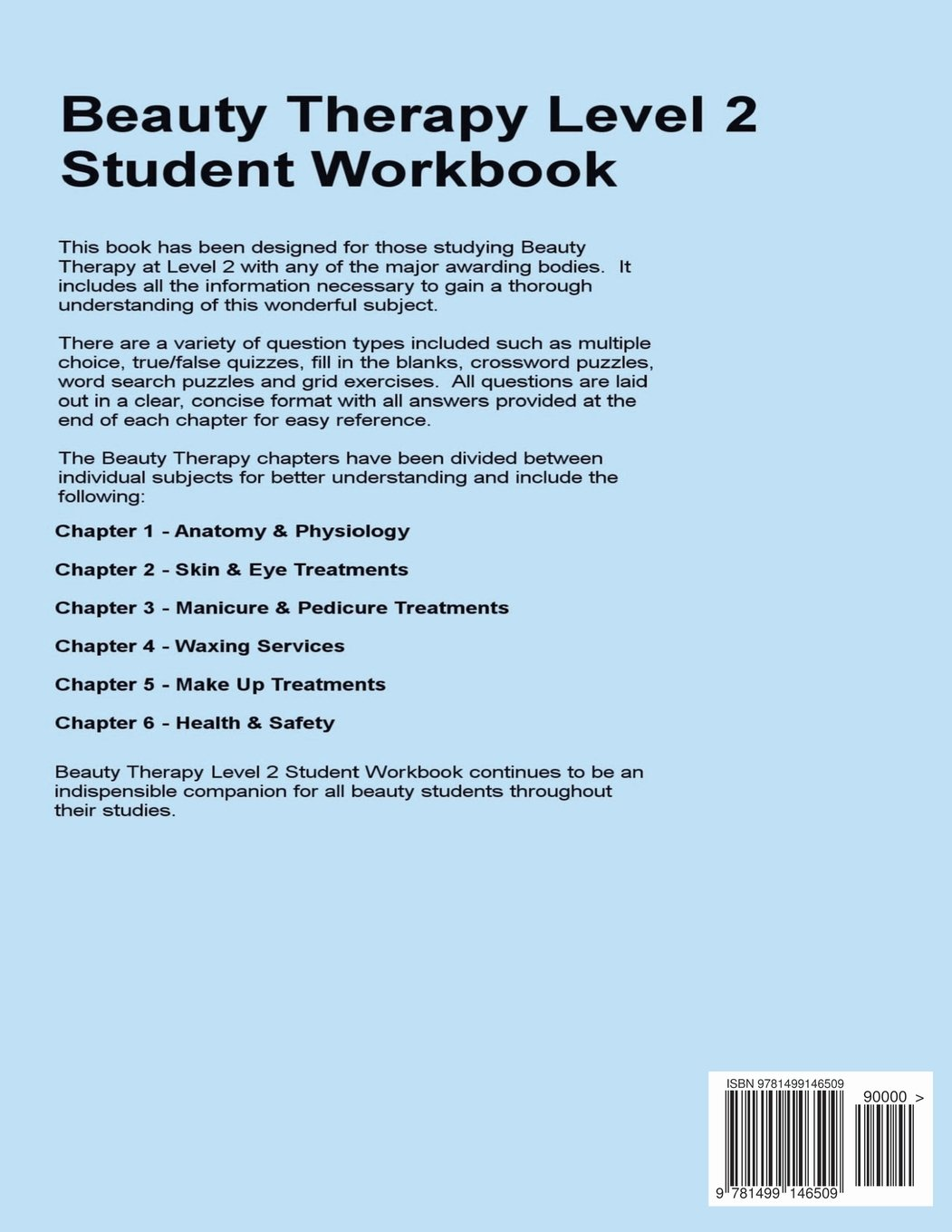 Beauty Therapy Level 2 Student Workbook: 3,000 Revision Questions ...