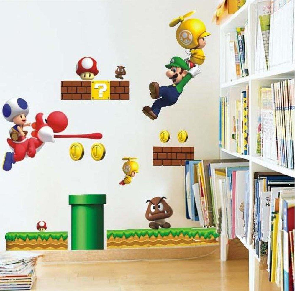 Wand-Sticker, Motiv: Super Mario: Amazon.de: Küche & Haushalt