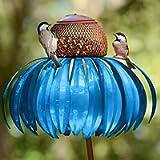 Hummingbird Feeders Coneflower Bird Feeder - Rust Resistant Garden Art Metal Bird Feeder with Stand - Flower Garden…