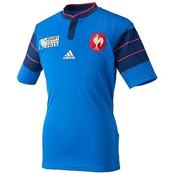 adidas France RWC 2015 Home S S Replica Rugby Shirt - Blue Dark Blue 6a7e7e96bf