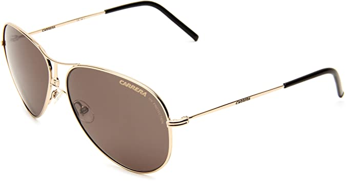Amazon.com: Carrera 4/S Aviator Sunglasses,Gold Frame/Green Lens,One ...