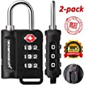 2-Pack XCSource TSA-Approved Luggage Lock