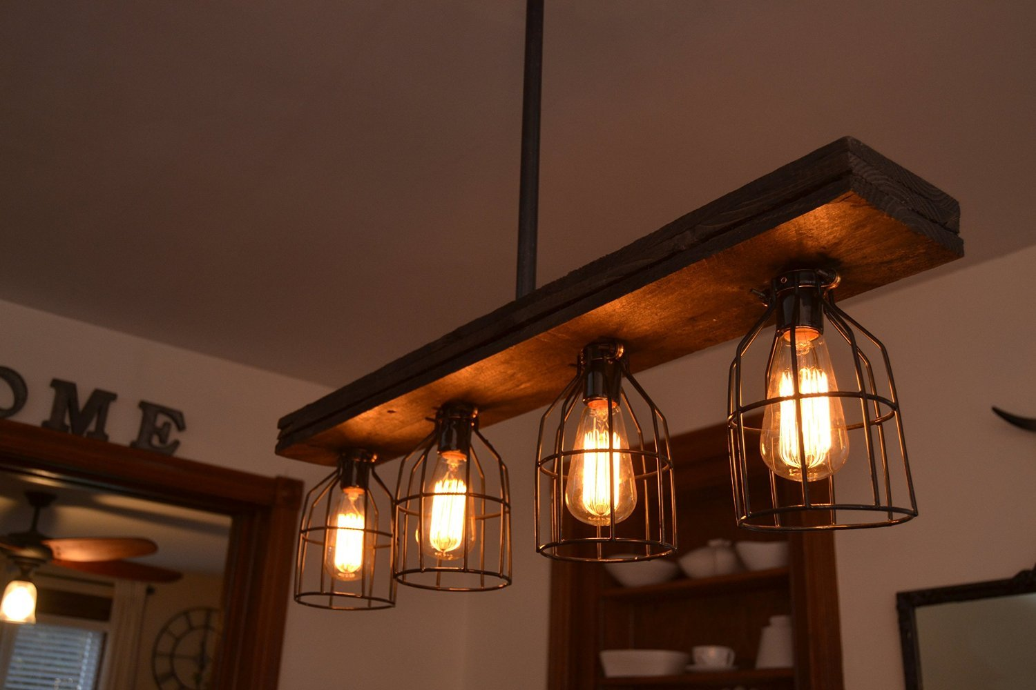 Triple Wood Light (W/Cages) by West Ninth Vintage