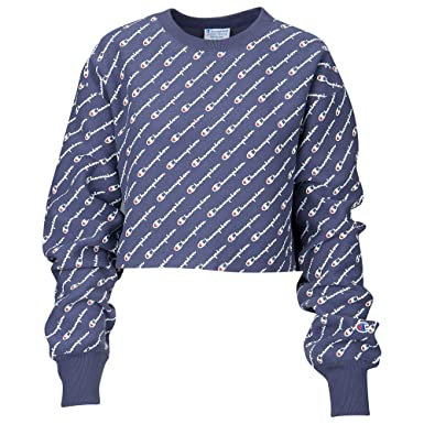 82d0b031 Champion Women's Reverse Weave All-Over Logo Cropped Cut Off Crewneck  (XX-Large