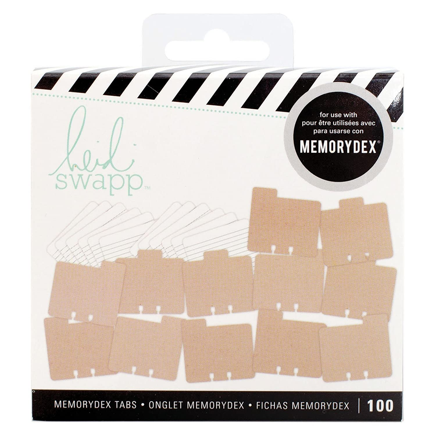 American Crafts Heidi Swapp MemoryDex Tabs Kraft 100 Piece 313036