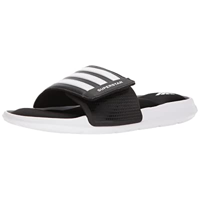 adidas Originals Men's Superstar Slide Sandal, White/Core Black, 17 | Sandals