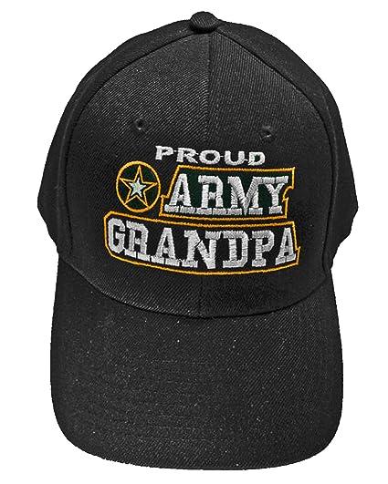 Amazon.com  Proud Army Grandpa Baseball Cap Black U.S. Army Star Hat ... e7a09d82ed02