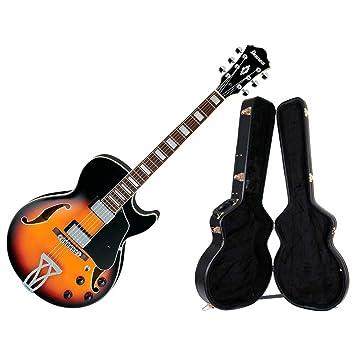 Ibanez AG75 Artcore Guitarra Eléctrica (Brown Sunburst) W/HardShell Case: Amazon.es: Instrumentos musicales