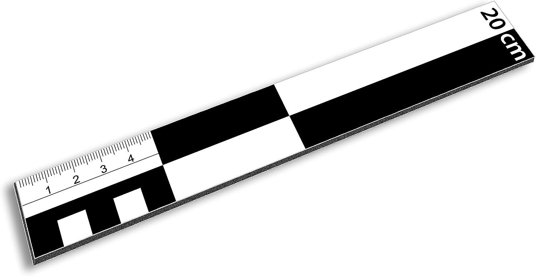 20 cm Regla para medir fotos de Dibond escala flecha del norte