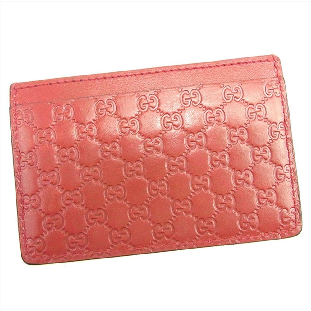 (グッチ) Gucci カードケース 名刺入れ レッド ミュゼオ グッチシマ メンズ可 中古 T1389   B0772PG8QY