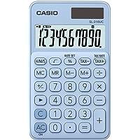 Casio SL-310UC-LB Taschenrechner, 10-stellig, in zehn Farbvarianten