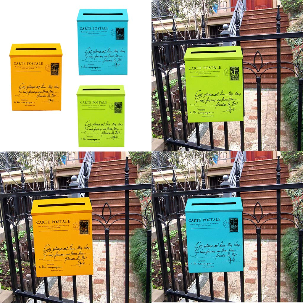 F Fityle 3 Pcs Buzón de exterior Buzón Jardín Diseño ...
